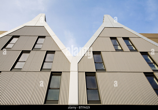 Corrugated metal building stock photos corrugated metal for Modern metal building