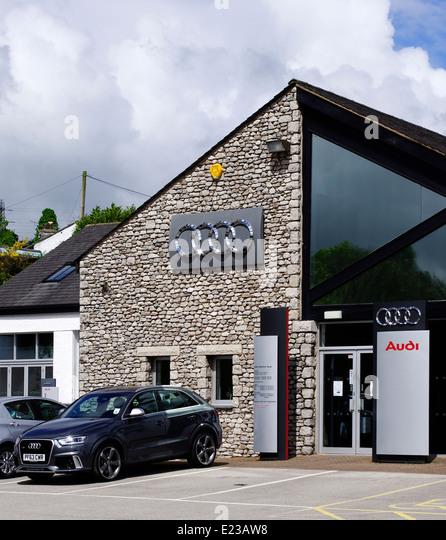 Hadwins Audi Dealership Lindale Cumbria Stock Photos