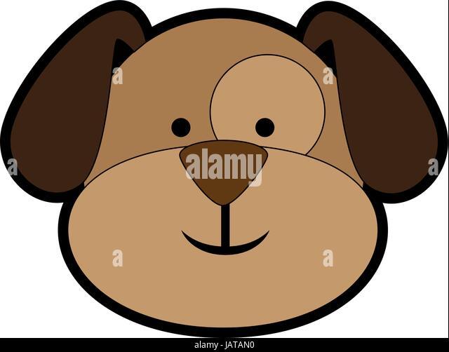 Cartoon Dog With Big Head