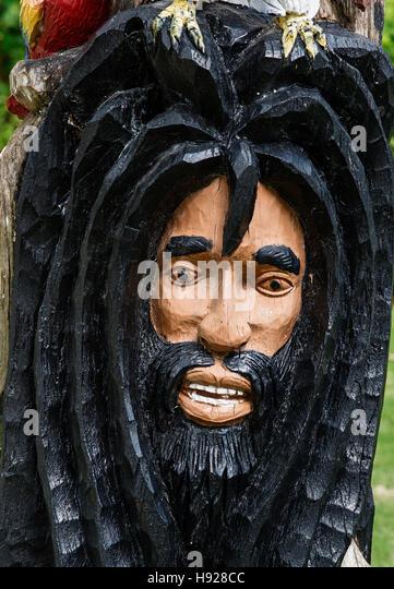 Chinese Rastafarian Jamaica Wood Ca...
