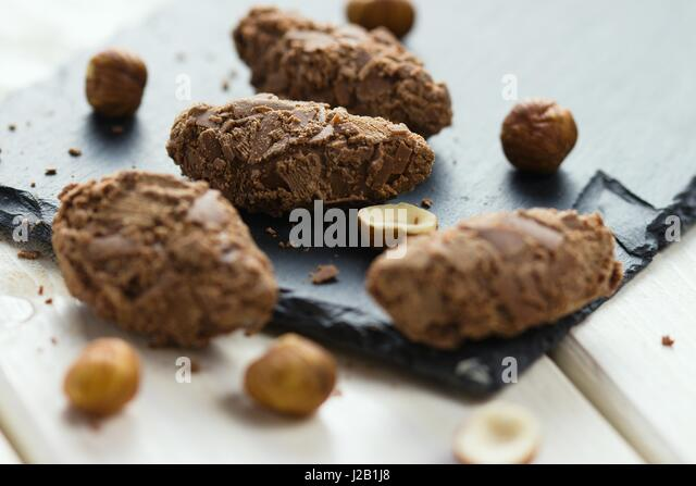 Shaved chocolate truffle