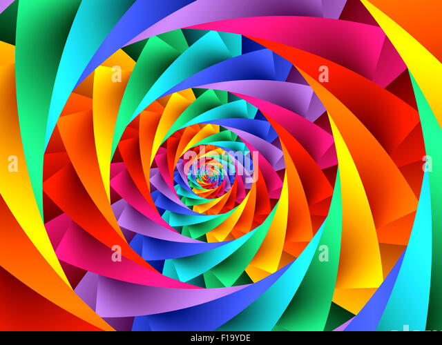Beautiful Psychedelic Rainbow Spiral Stock Photos