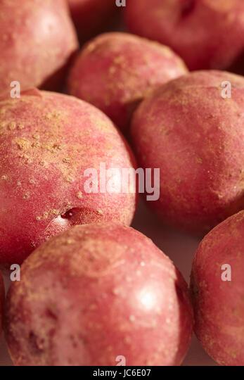 fresh, raw, baby potatoes - Stock Image