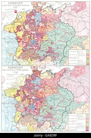 Peace Of Westphalia Stock Photos Peace Of Westphalia - Europe map 1648 westphalia