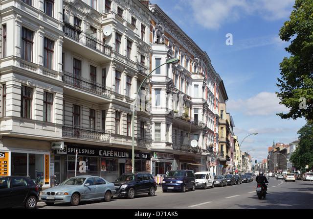 germany residential buildings karl marx strasse stock photos germany residential buildings. Black Bedroom Furniture Sets. Home Design Ideas