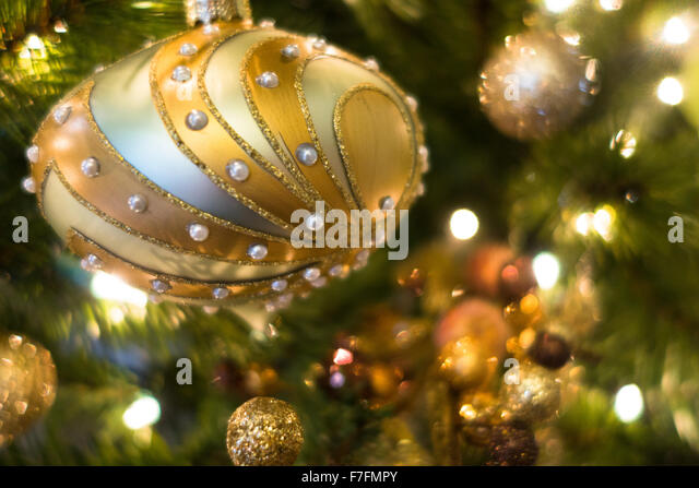 Beautiful Christmas Ornaments elegant beautiful christmas tree ornaments stock photos & elegant