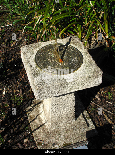 Garden Ornament Sundial Stock Photos Garden Ornament Sundial