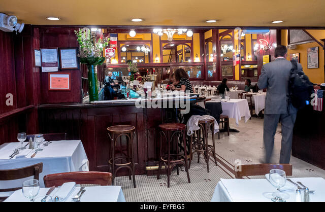 New York CIty NY USA Inside Bar And Dining Room French Brasserie
