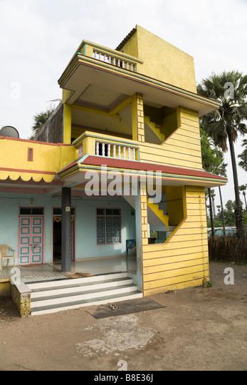 Indian house in Hazira village. Hazira, near Surat, Gujarat. India. -