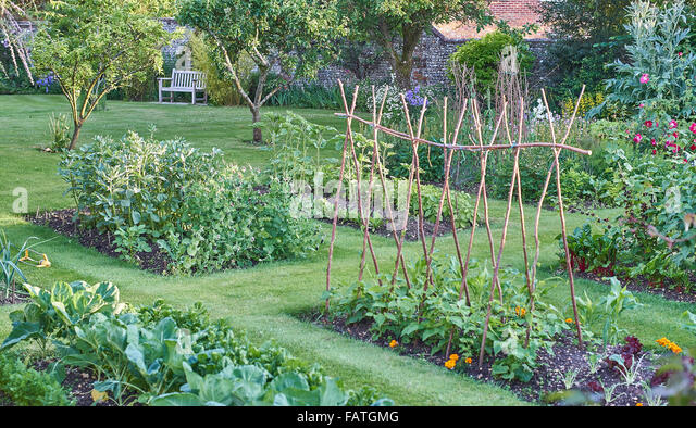 Walled garden and vegetable stock photos walled garden for Summer vegetable garden