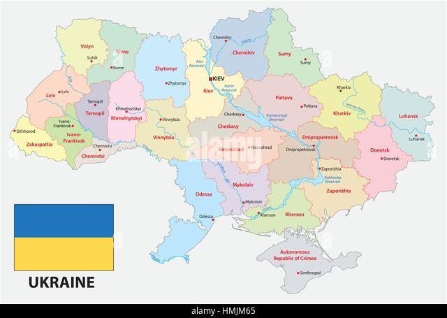 Ukraine Russia Map Stock Photos Ukraine Russia Map Stock Images