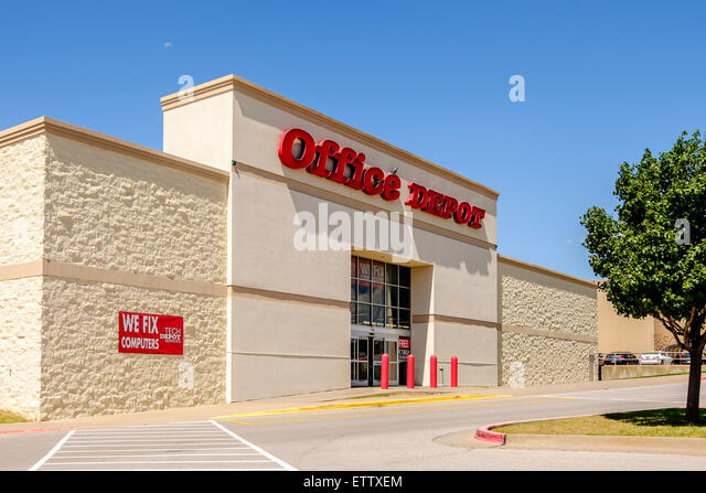The Exterior Of Office Depot, A Business Supplying Office Supplies.  Oklahoma City, Oklahoma