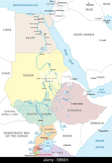 Nile River Map Stock Photos  Nile River Map Stock Images  Alamy