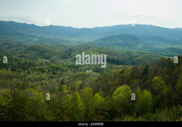 View from Foothills Parkway in East Tennessee - Stock Image