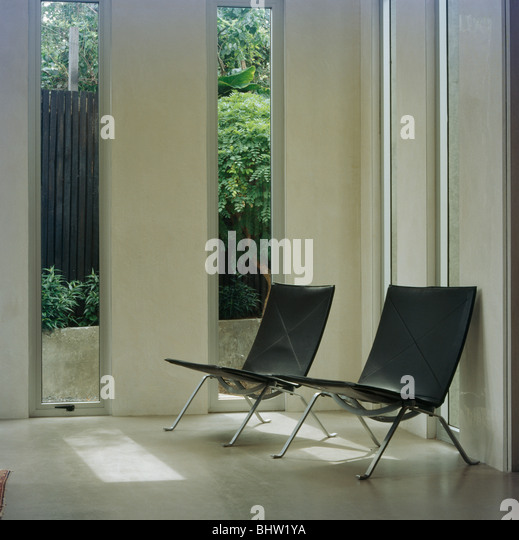 Chairs Modern Chrome Leather Stock Photos Chairs Modern