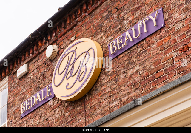 The Bedale Beauty Salon Sign In North Yorkshire England Britain Uk