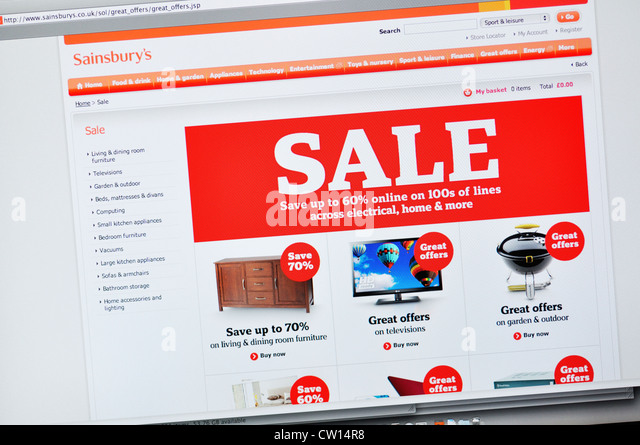 Online shopping at sainsburys