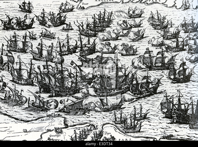 an analysis of the battle between the spanish armada and the british fleet in 16th century The defeat of the spanish armada essay the spanish armada, the biggest invading fleet spain had ever during the 16th century spain and england were.