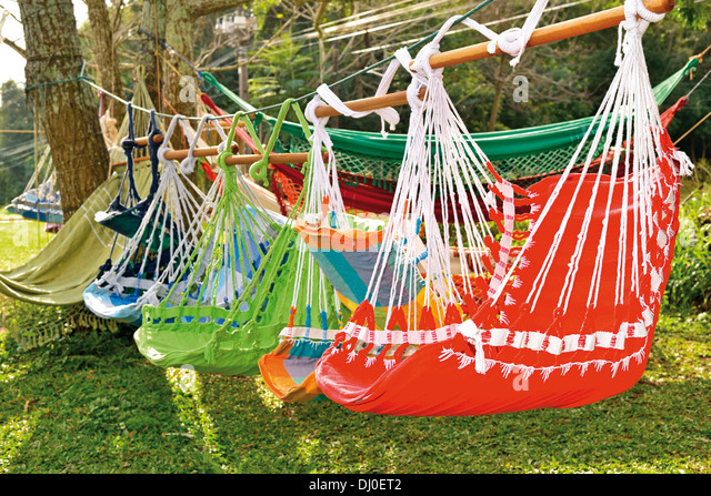 brazil iguassu national park  colorful hammocks along the street for sale as souvenirs   colorful hammocks stock photos  u0026 colorful hammocks stock images      rh   alamy