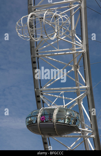 Empty London Eye Capsule Stock Photos & Empty London Eye