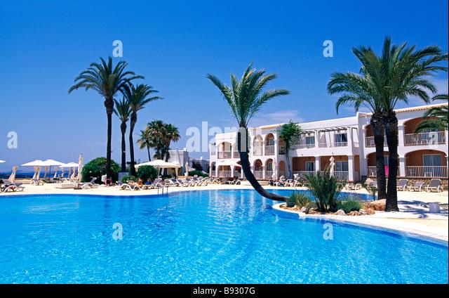 hotel in talamanca ibiza balearic islands spain stock image