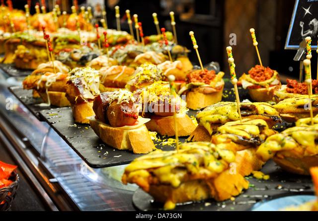 Pinchos Bread Tapas Stock Photos & Pinchos Bread Tapas ...