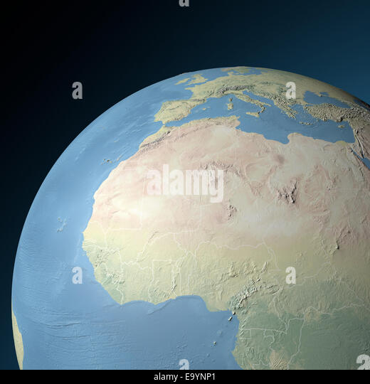 North Africa Map Stock Photos North Africa Map Stock Images Alamy - Physical map of north africa