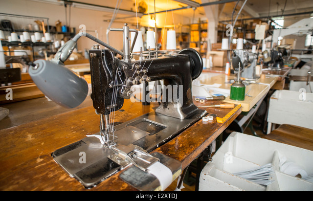 black sewing machine table