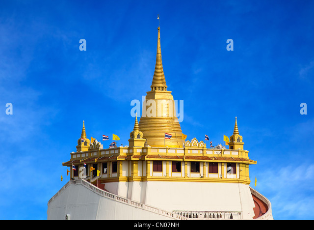 Buddha Statue Wat Saket Golden Mount Stock Photos & Buddha ...