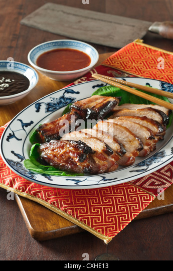 Char Siu Roast Pork Chinese Food Stock Image