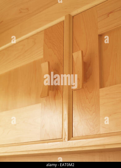 Natural units stock photos natural units stock images for Wooden fitted kitchen