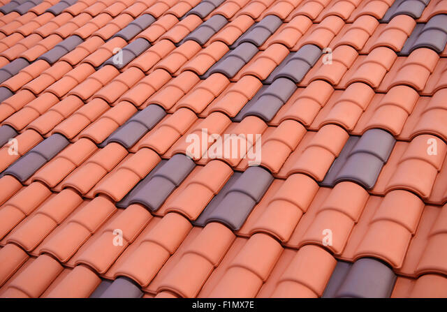 Tile roof pattern stock photos tile roof pattern stock for Roof tile patterns