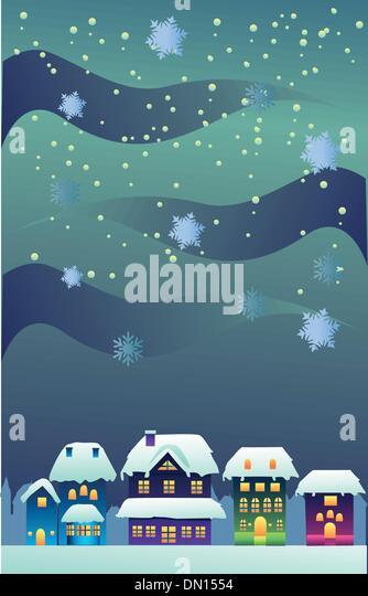 Christmas village clip art stock photos