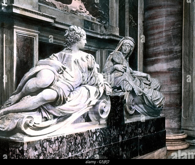 Pope paul iii stock photos pope paul iii stock images alamy das grabmal von papst paul iii im petersdom in rom italien 1920er jahre fandeluxe Choice Image