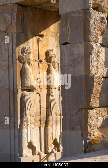 Persepolis bas relief iran stock photos