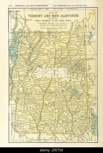 Vermont New Hampshire Map Stock Photos Vermont New Hampshire Map - Vermont on us map