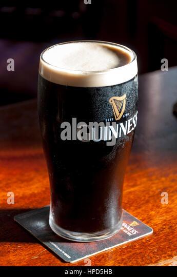 Pint of guinness stock photos pint of guinness stock for Guinness beer in ireland