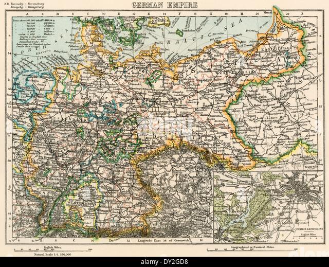 Political Map German Stock Photos Political Map German Stock - World map 1800s political