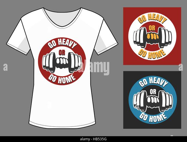 Fitness Bodybuilding Label With Lettering And Dumbbell For Sticker Poster Logo Or T