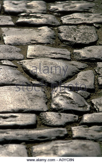 Stone Pavement In Paris : France paved pavement stock photos