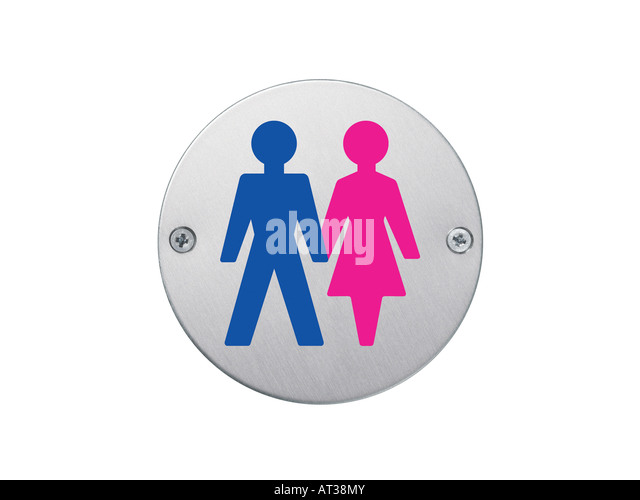 Bathroom Signs Holding Hands male female bathroom sign stock photos & male female bathroom sign