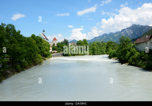River Lech In Fuessen Bavaria Stock Photos & River Lech In ...