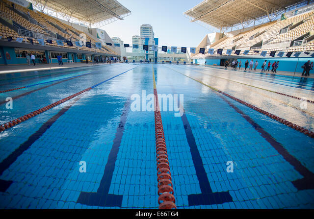 6th aug 2014 a view of the pool - Olympic Swimming Pool 2014