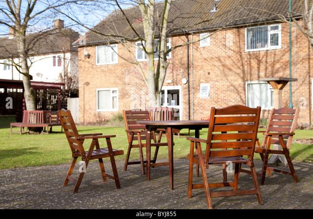 The Outside Of An Elderly Nursing Care Home England UK