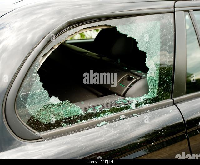Smashed Car Window Temporary Repair
