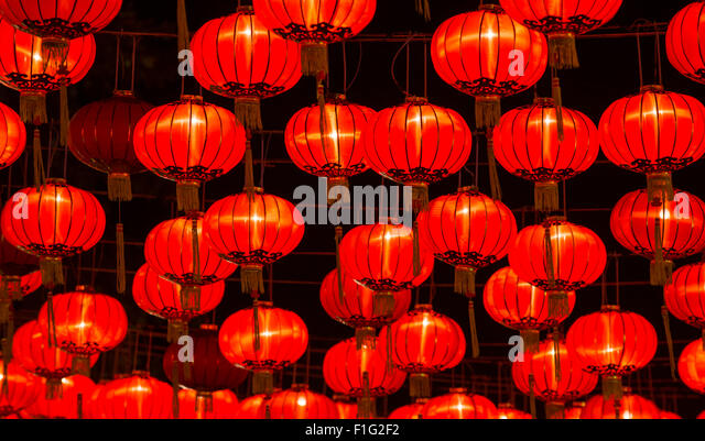 chinese new year lanterns stock image - Chinese New Year Lanterns