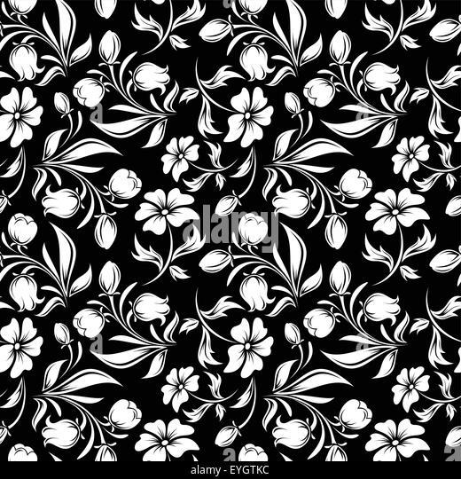 Black Flower Pattern Silhouette Stock Illustration: Bluebell Black And White Stock Photos & Images