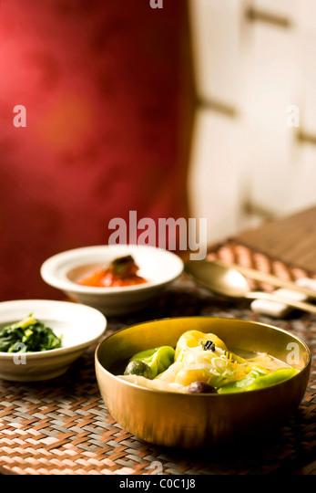 Korean Rice Cake Soup Stock Image