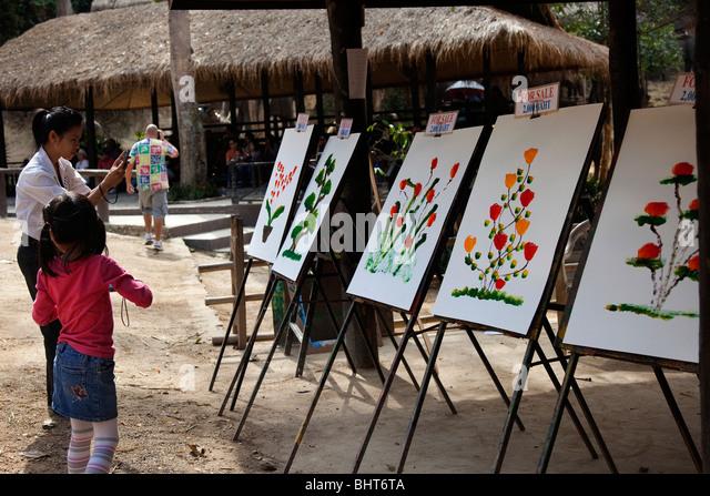 Maesa Elephant Paintings For Sale