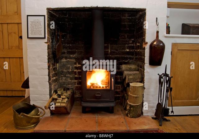 morso wood burning stove - Stock Image - Wood Burning Stove Stock Photos & Wood Burning Stove Stock Images